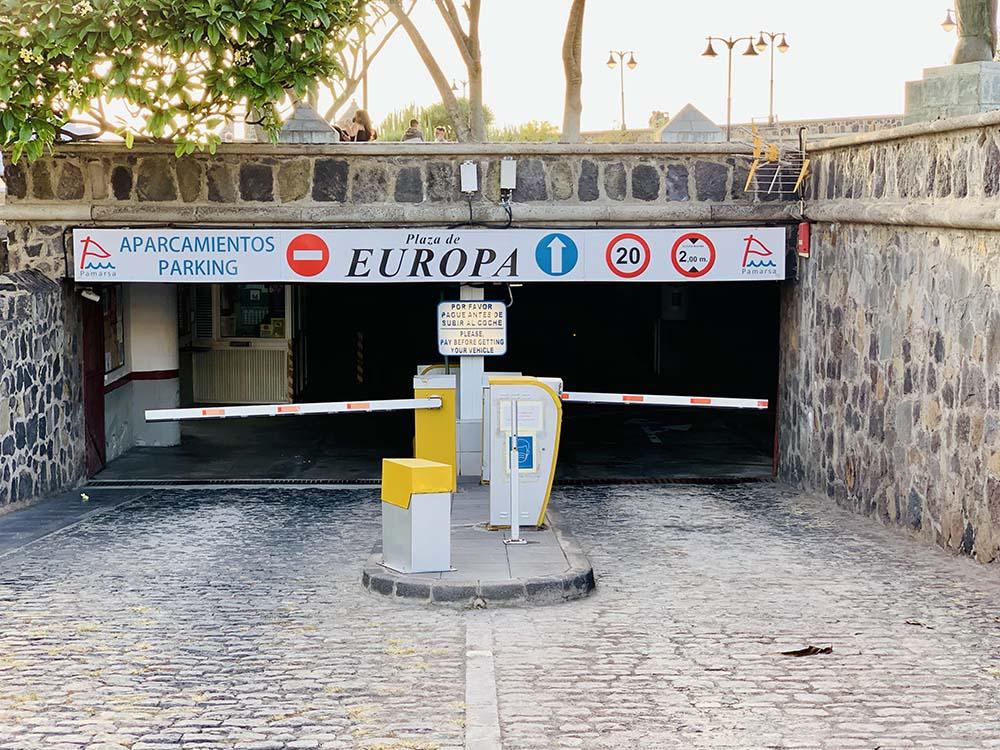 Parking Plaza de Europa Puerto de La Cruz
