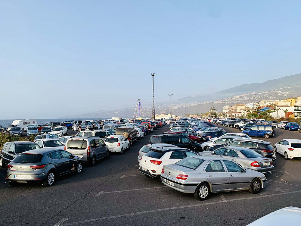 Parking explanada del muelle Puerto de la Cruz